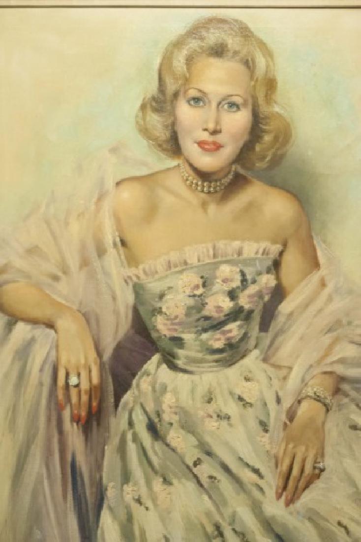 Portrait of a Lady Oil / Canvas by JD van Caulaert - 2