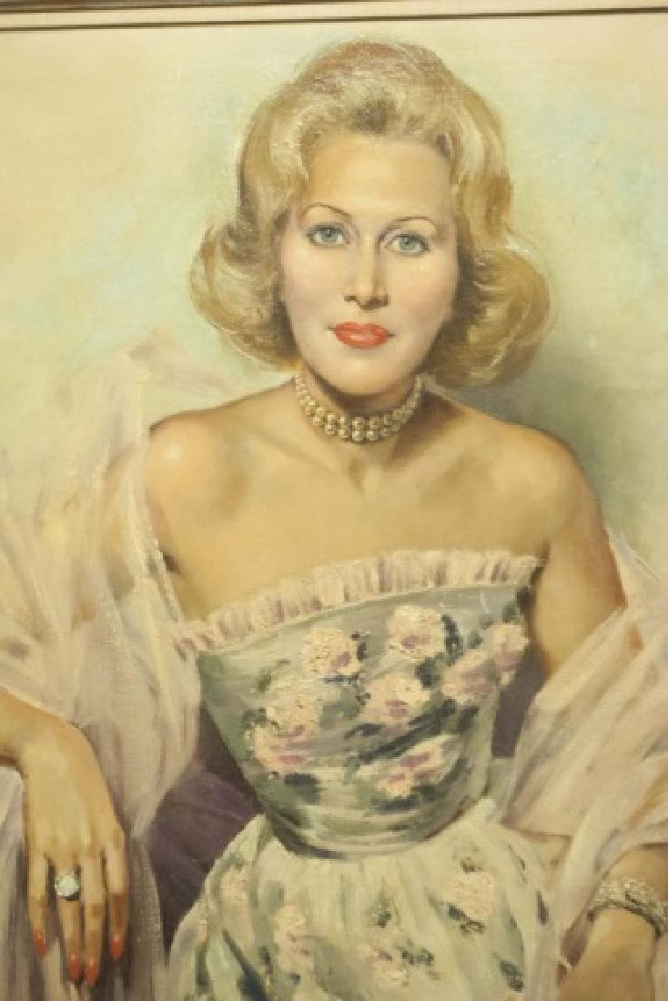 Portrait of a Lady Oil / Canvas by JD van Caulaert - 3