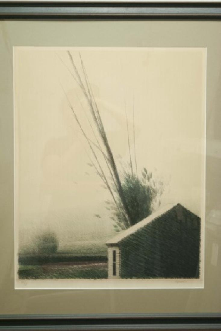 Lithograph on Paper by Robert Kipness of House - 2