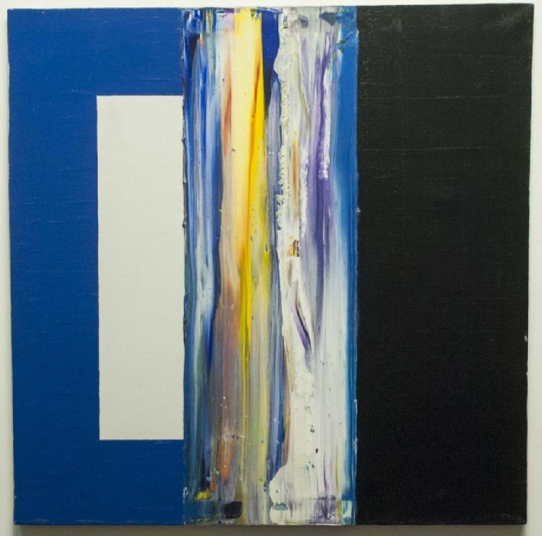 Pair Signed Contemporary Paintings Adam E. Cordero