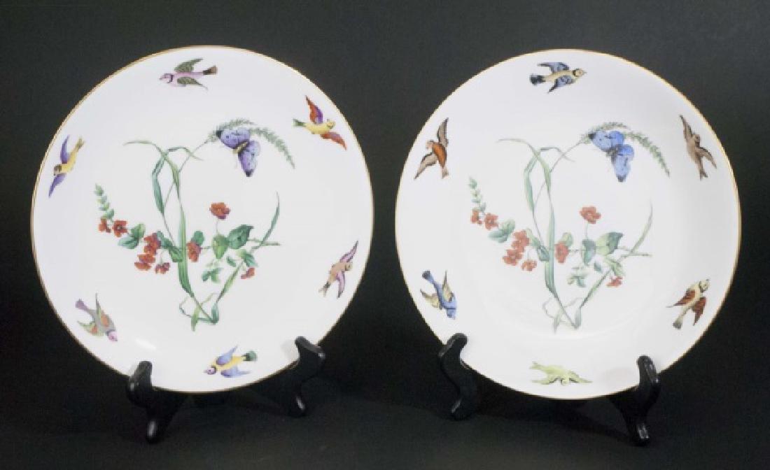 Pair Mintons Caldwell Butterfly & Bird Motif Plate