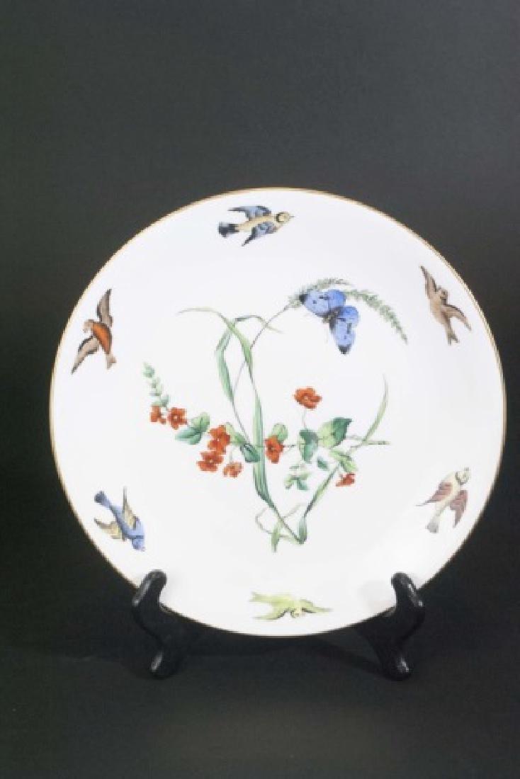 Pair Mintons Caldwell Butterfly & Bird Motif Plate - 3