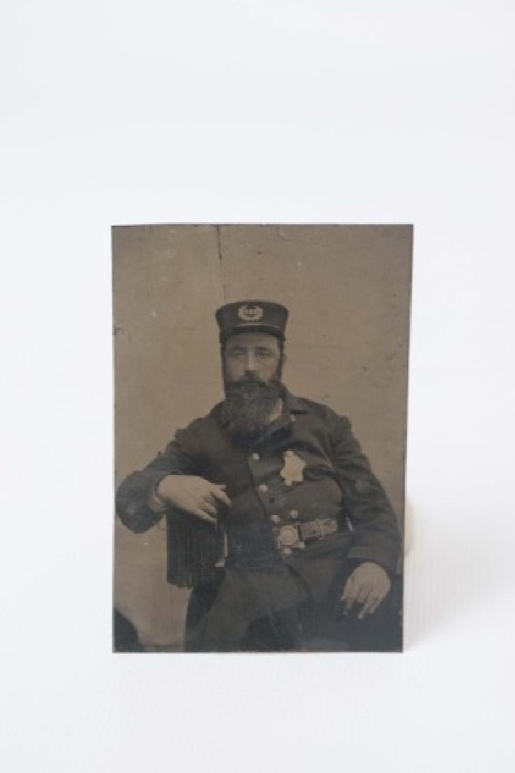 Antique Tin Type of Soldier & Daguerreotype of Boy - 3