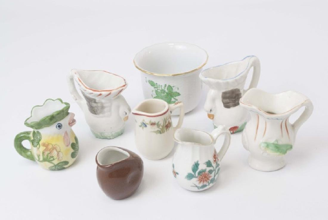 Herend Porcelain Cache Pot & Miniature Creamers