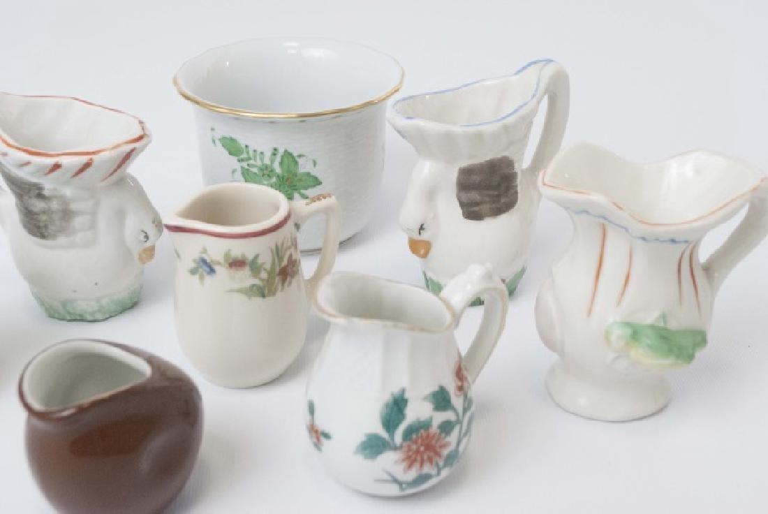 Herend Porcelain Cache Pot & Miniature Creamers - 2