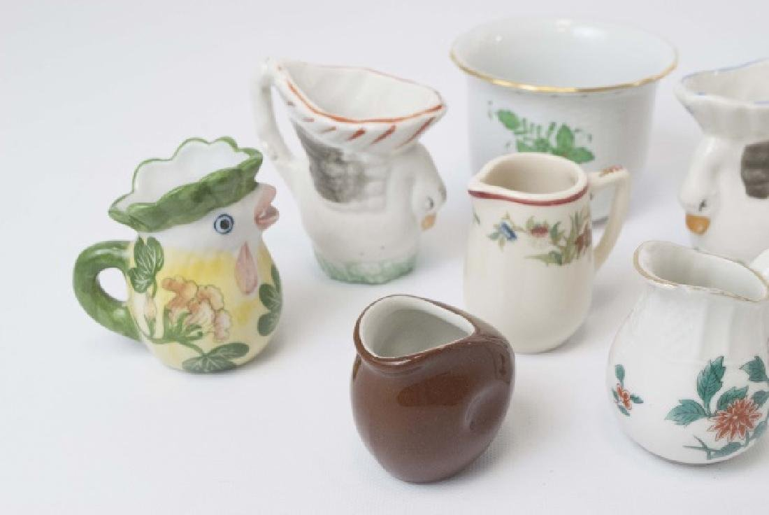 Herend Porcelain Cache Pot & Miniature Creamers - 3