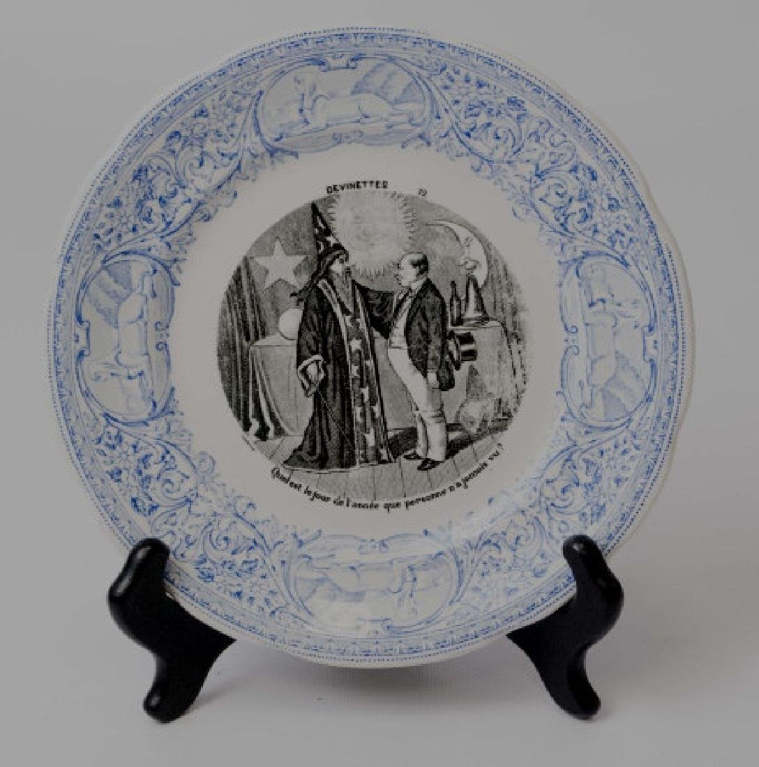 Antique 19th C French Plate - Witchcraft / Wizard