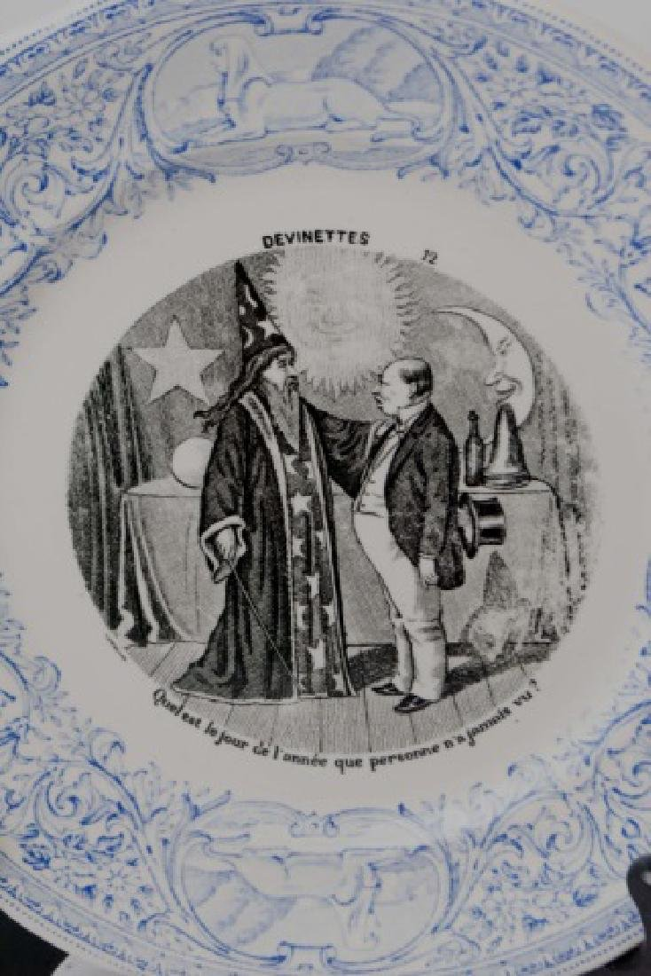 Antique 19th C French Plate - Witchcraft / Wizard - 3