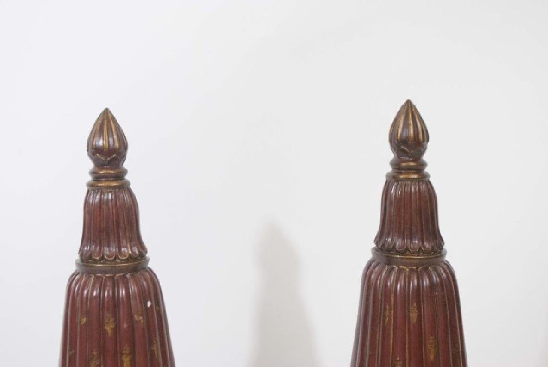 Pair Contemporary Italian Baroque Style Wall Vases - 4