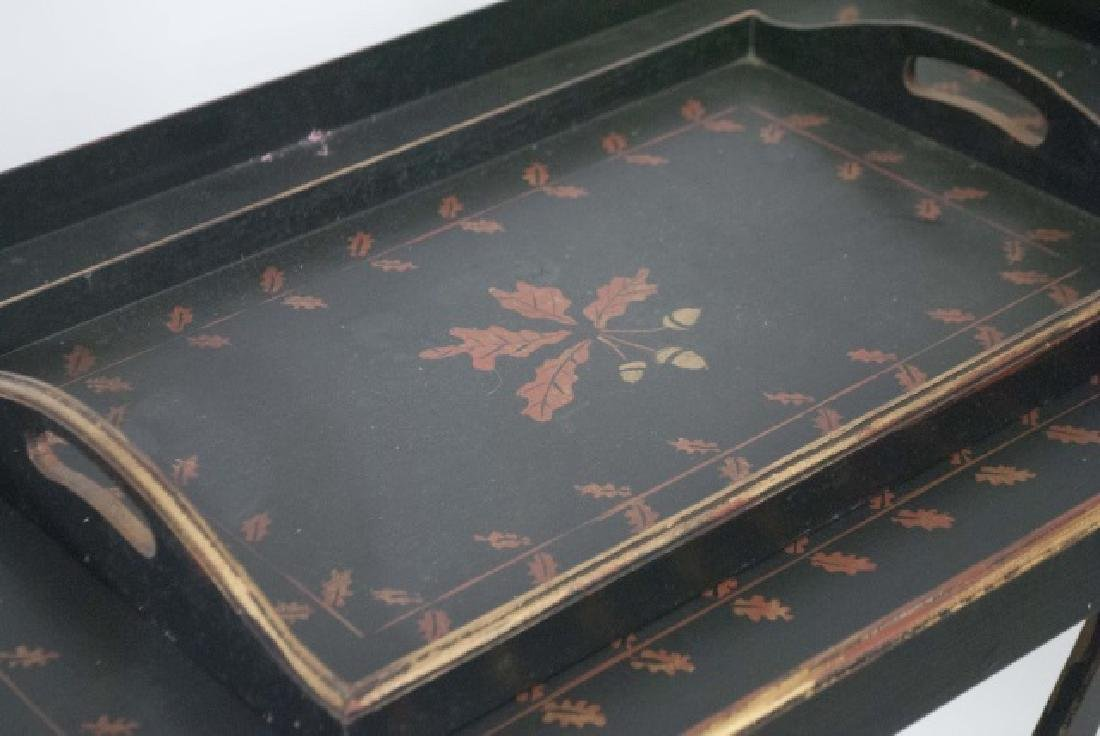 English Campaign Style Tray Top Breakfast Table - 2