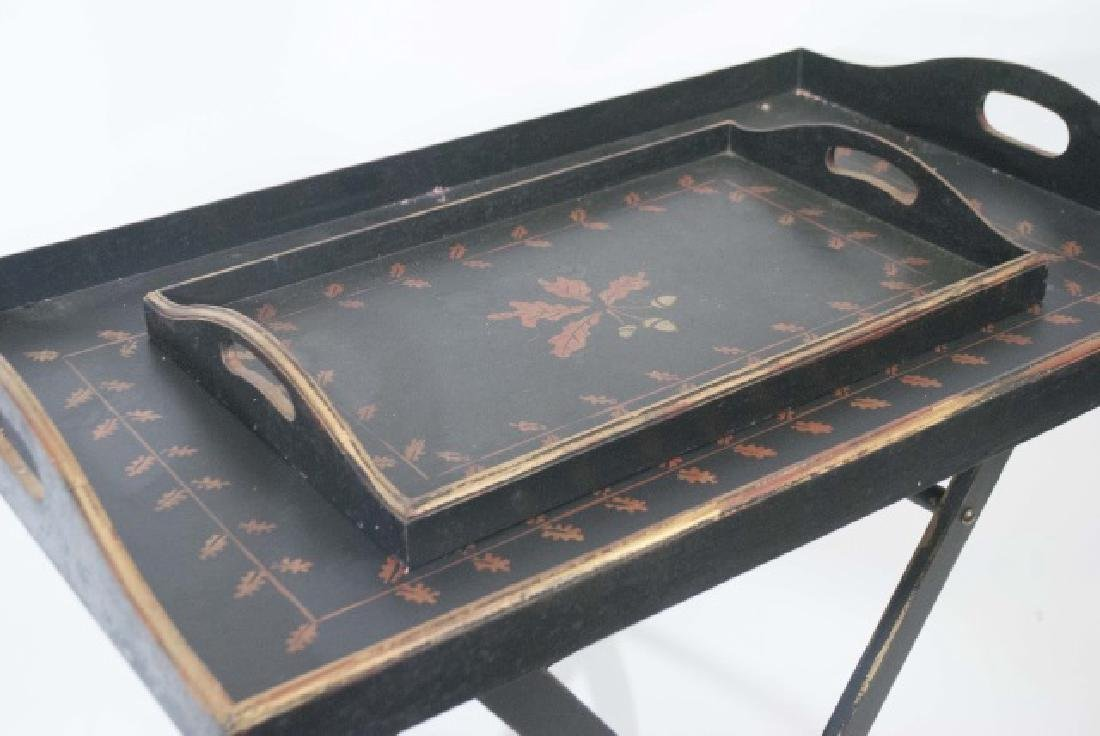 English Campaign Style Tray Top Breakfast Table - 3