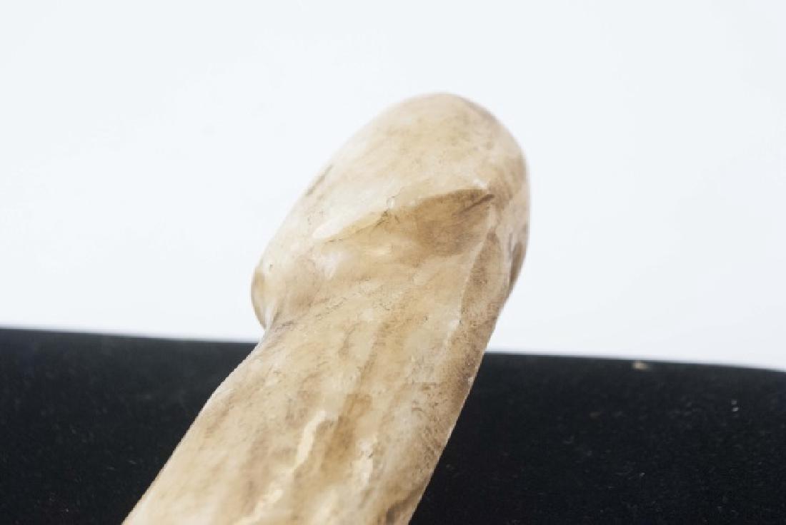 Chinese Hand Carved Hardstone Phallic Statue - 2