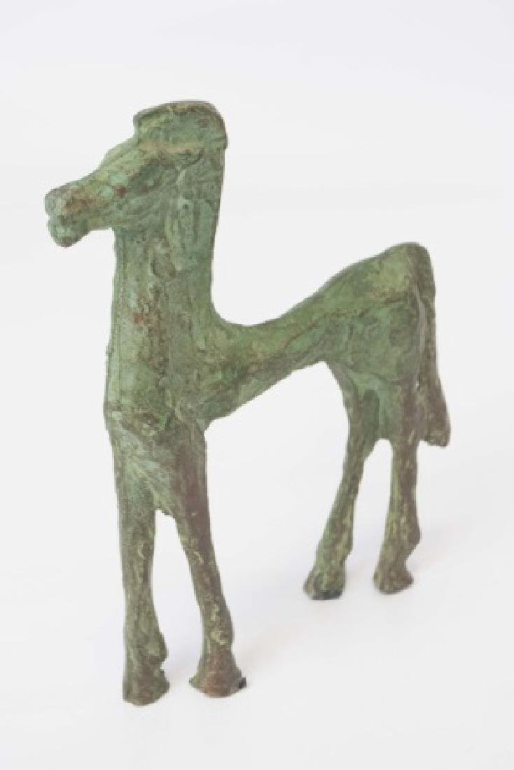Chinese Ancient Archiac Style Bronze Horse Statue