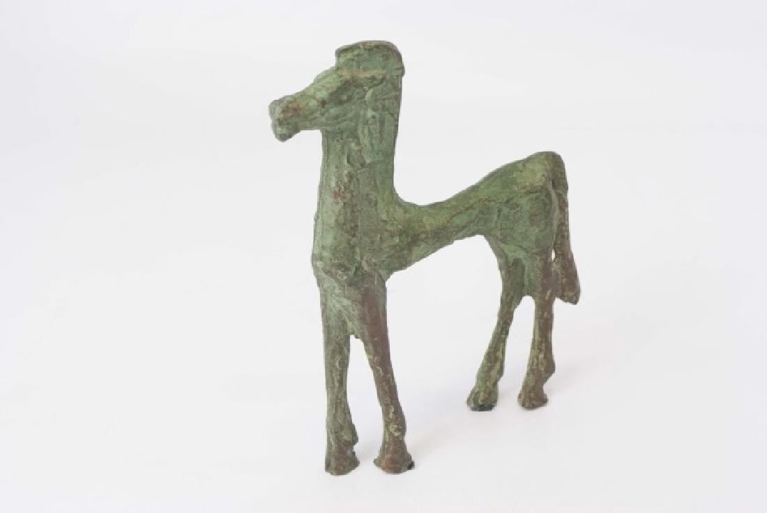 Chinese Ancient Archiac Style Bronze Horse Statue - 2