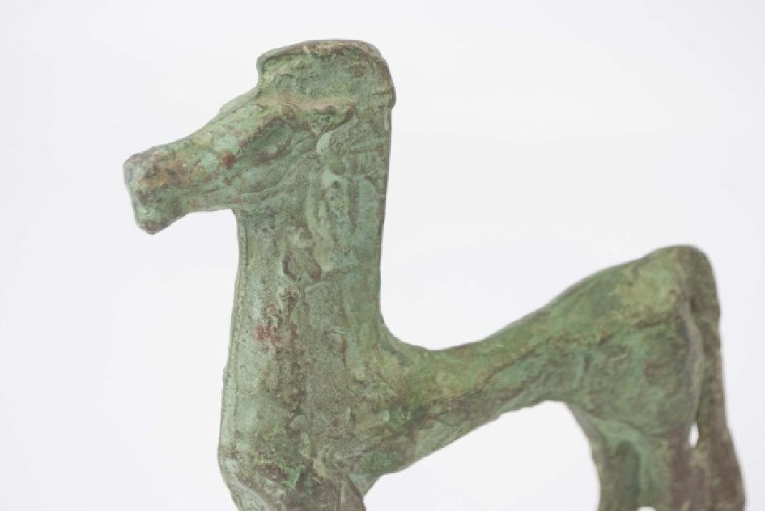 Chinese Ancient Archiac Style Bronze Horse Statue - 3