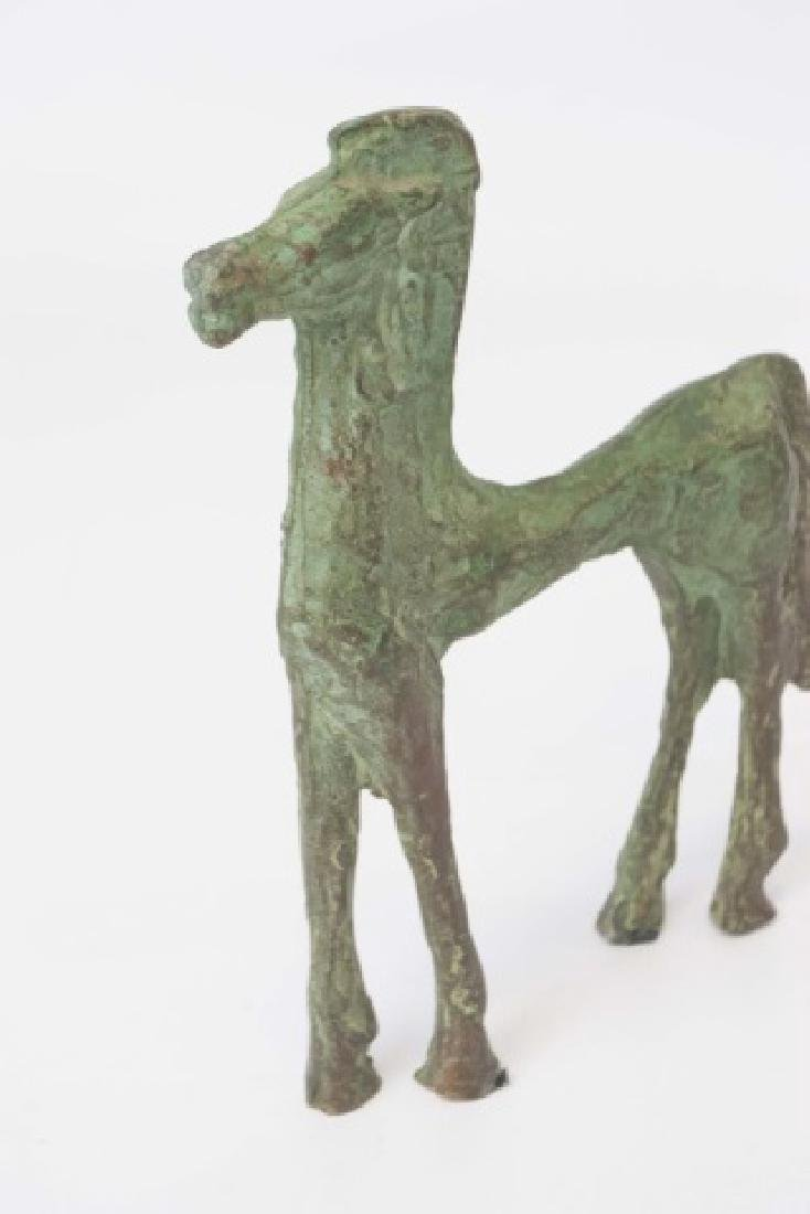 Chinese Ancient Archiac Style Bronze Horse Statue - 4