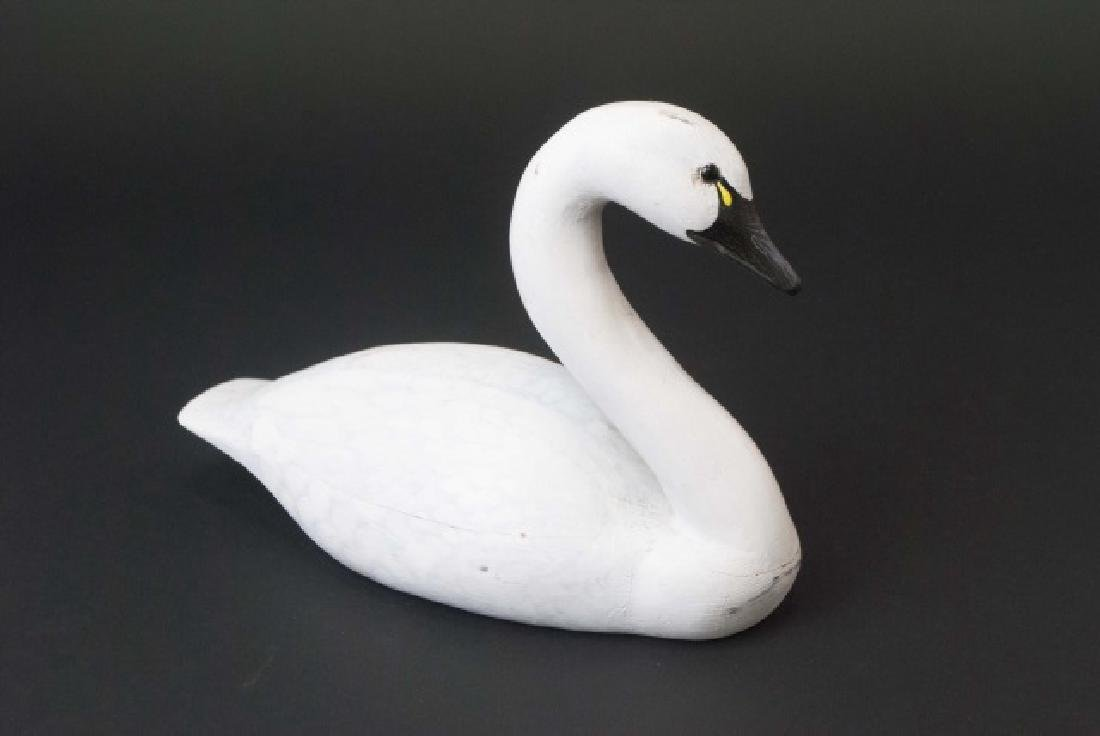 Signed Handmade Hand Painted Whistling Swan Decoy