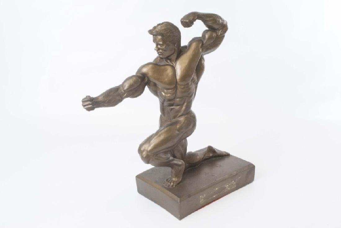 Muscular Male Physique Posed Statue