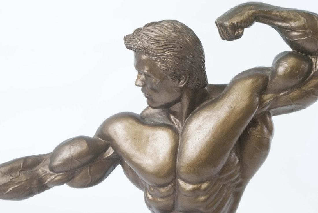 Muscular Male Physique Posed Statue - 3