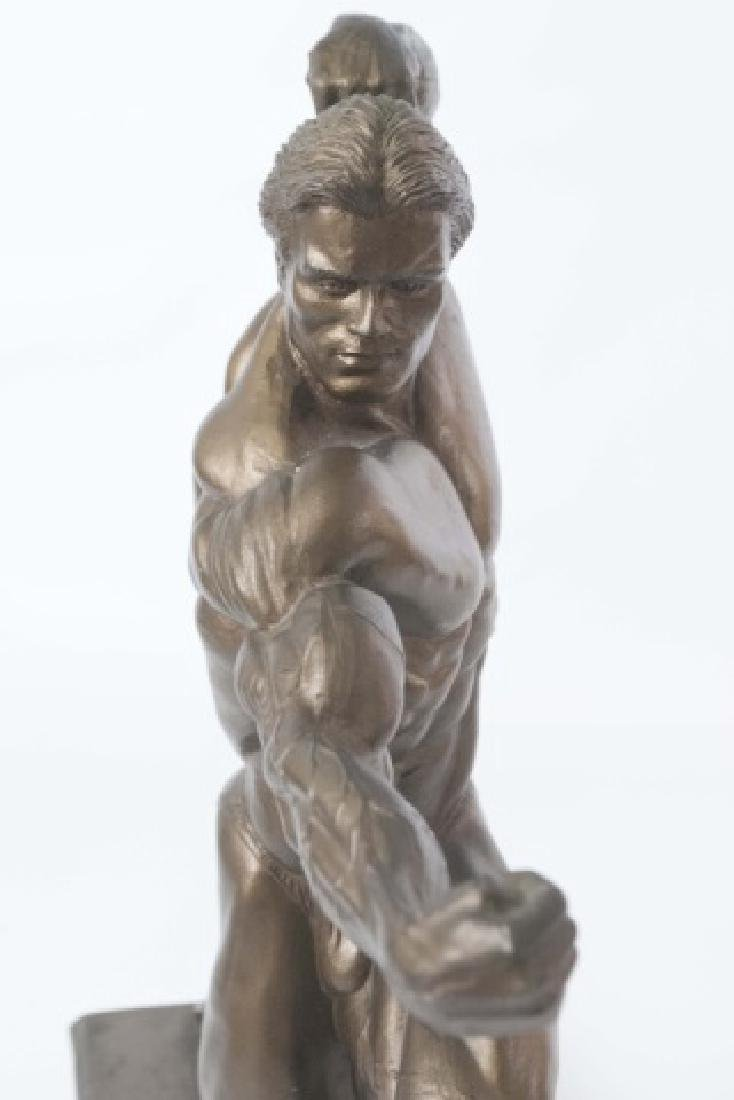 Muscular Male Physique Posed Statue - 4