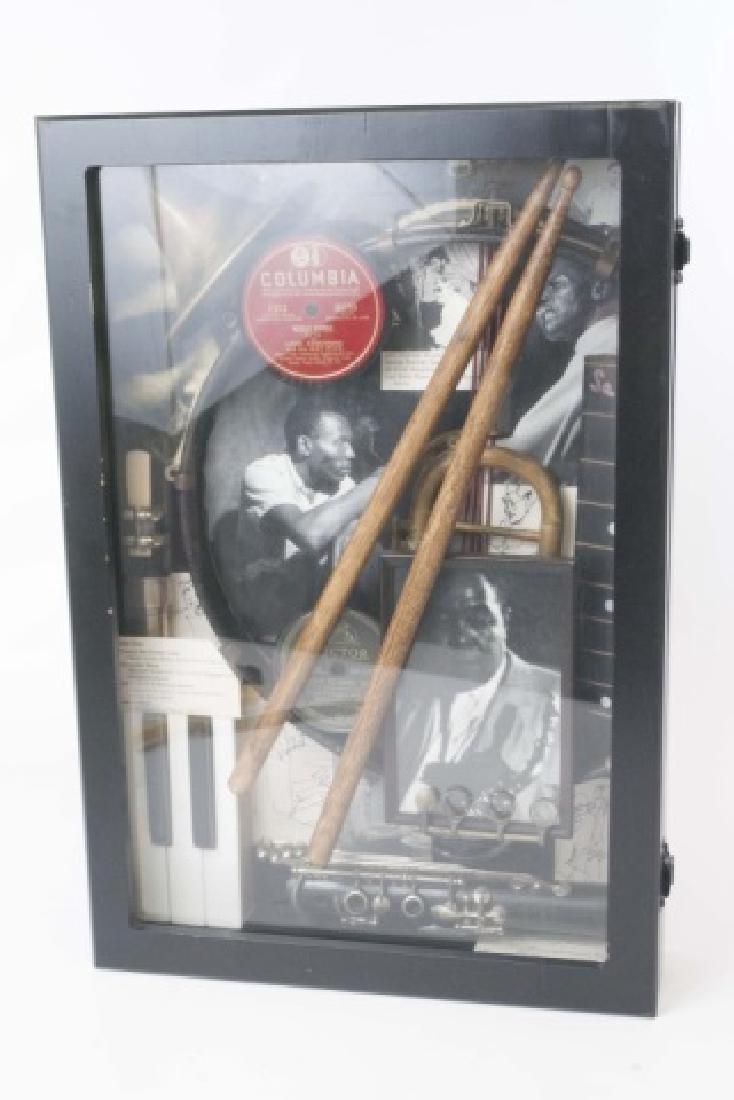 Louis Armstrong Jazz Era Shadow Box Display - 2