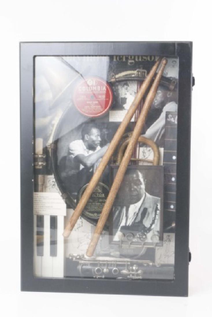 Louis Armstrong Jazz Era Shadow Box Display - 3