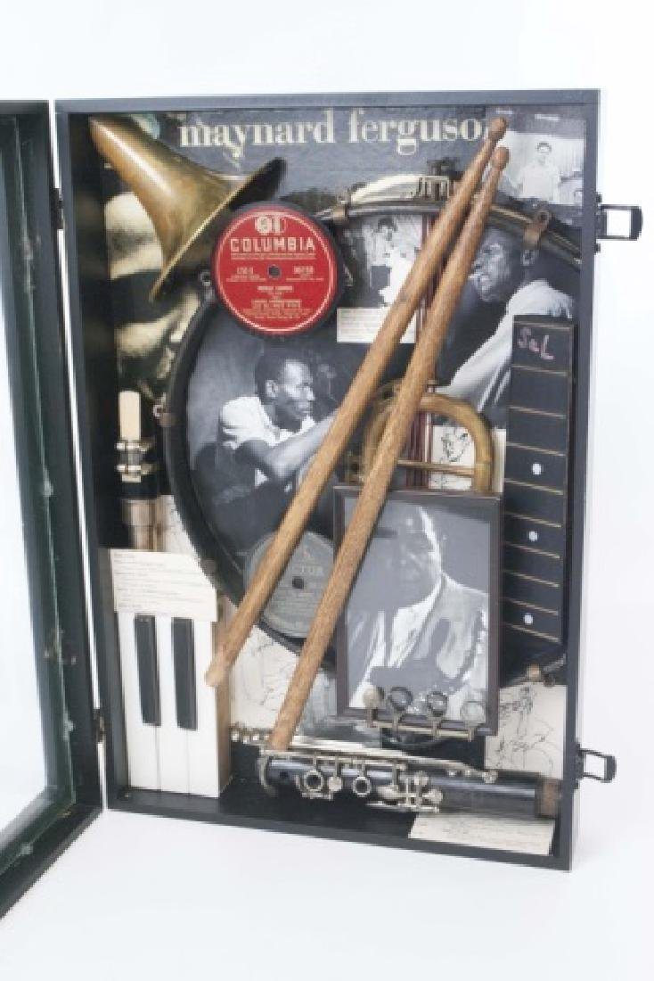 Louis Armstrong Jazz Era Shadow Box Display - 4