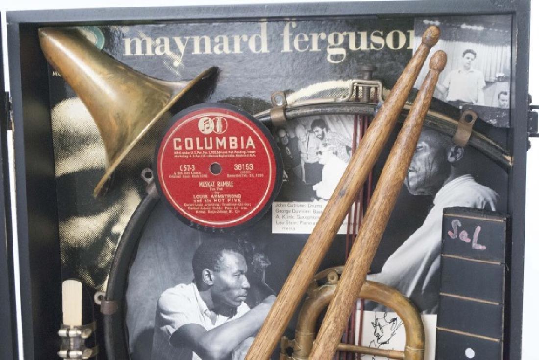 Louis Armstrong Jazz Era Shadow Box Display - 7