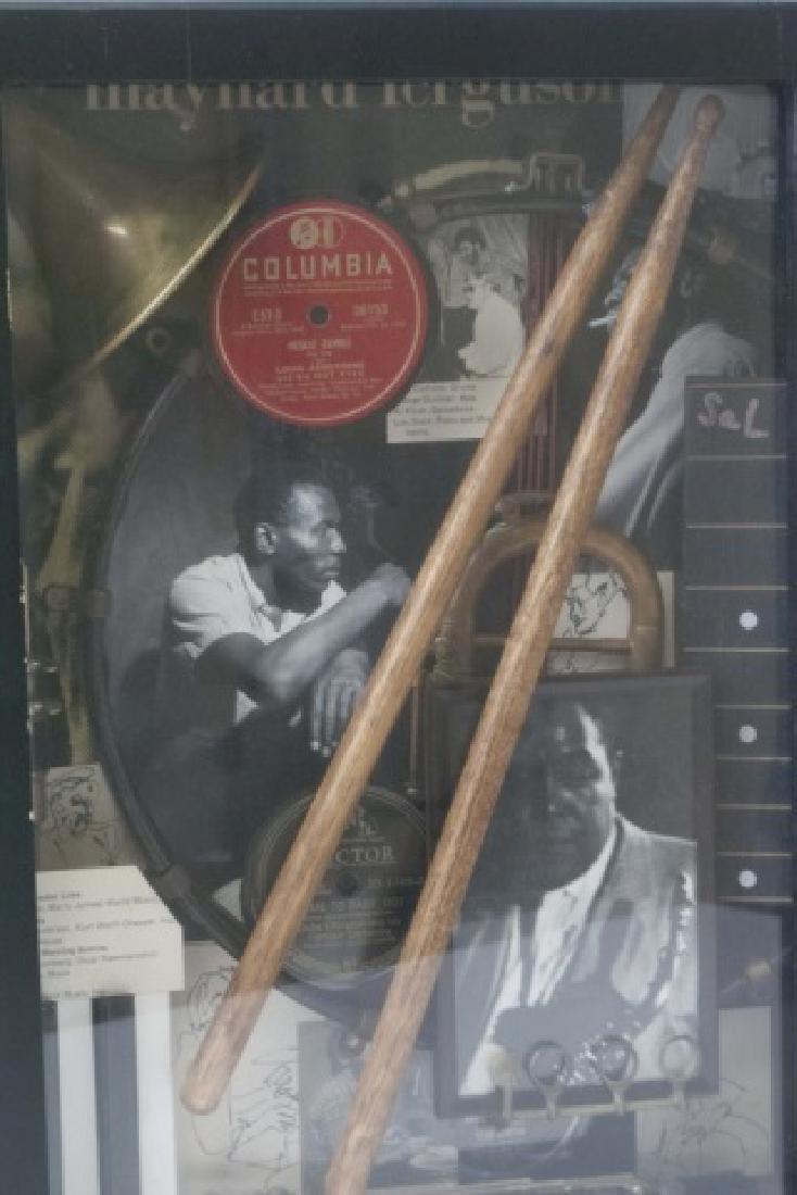 Louis Armstrong Jazz Era Shadow Box Display - 8