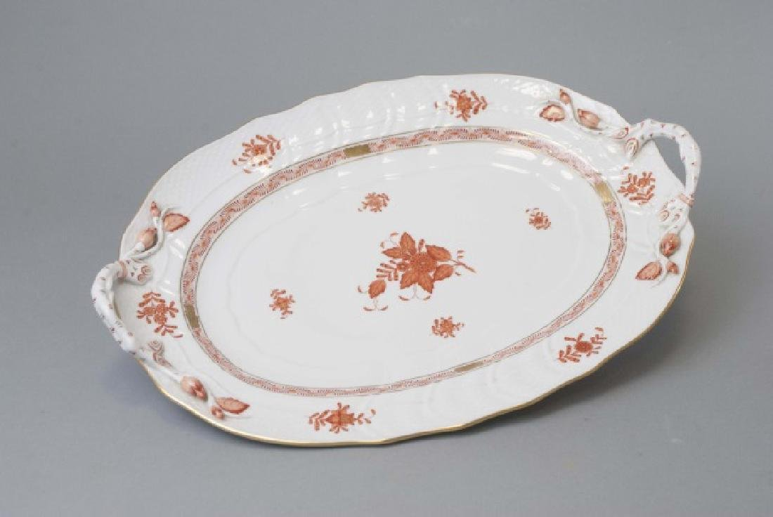 Large Herend of Hungary Porcelain Tureen w Tray - 4