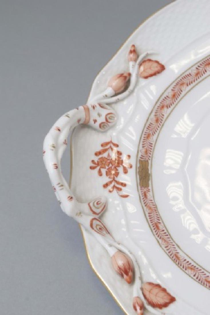 Large Herend of Hungary Porcelain Tureen w Tray - 6