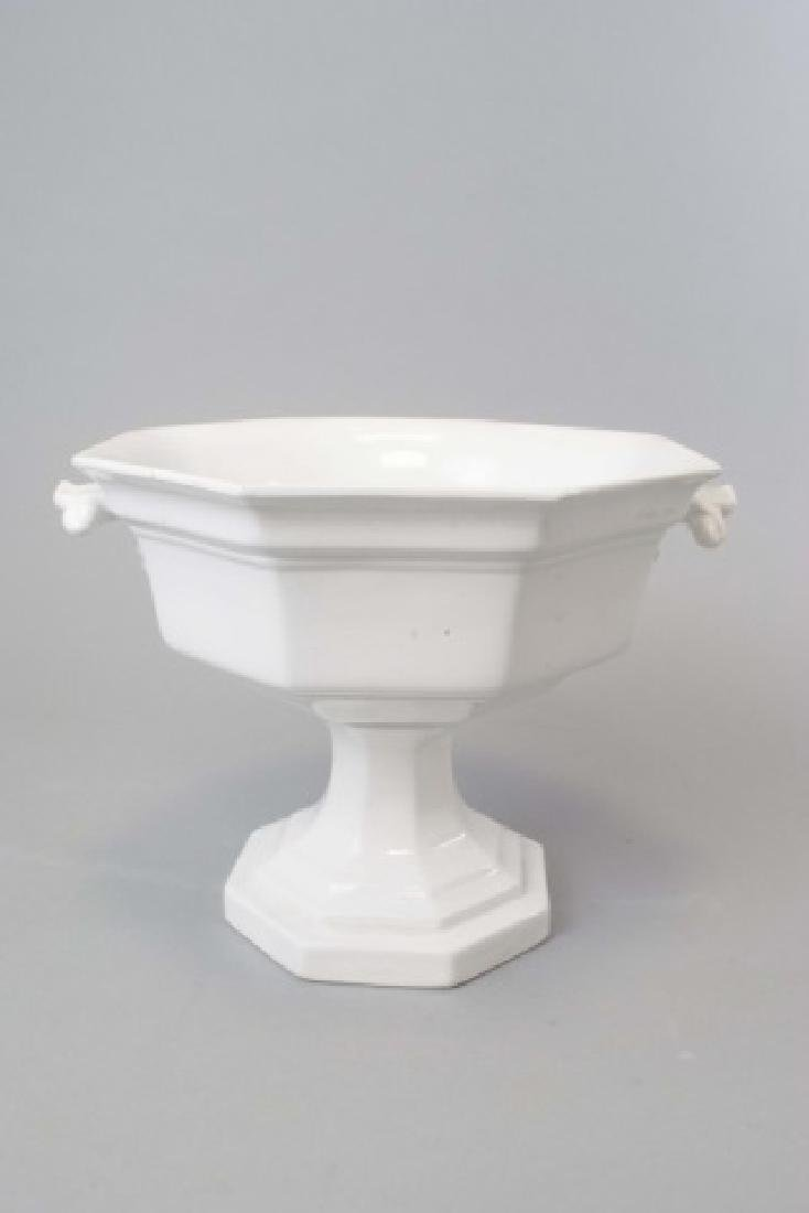 Antique 19th C Ironstone Large Serving Compote