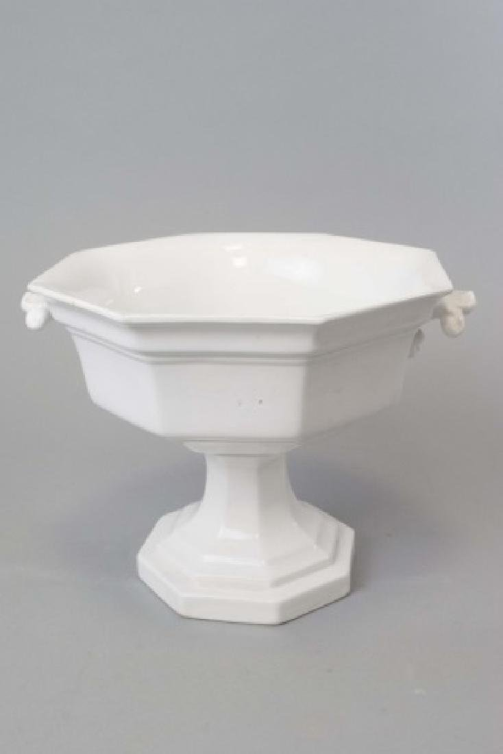 Antique 19th C Ironstone Large Serving Compote - 2