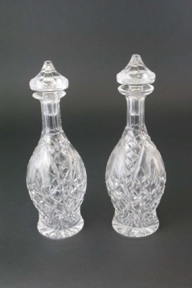 Pair of Hallmarked Waterford Stoppered Decanters - 3