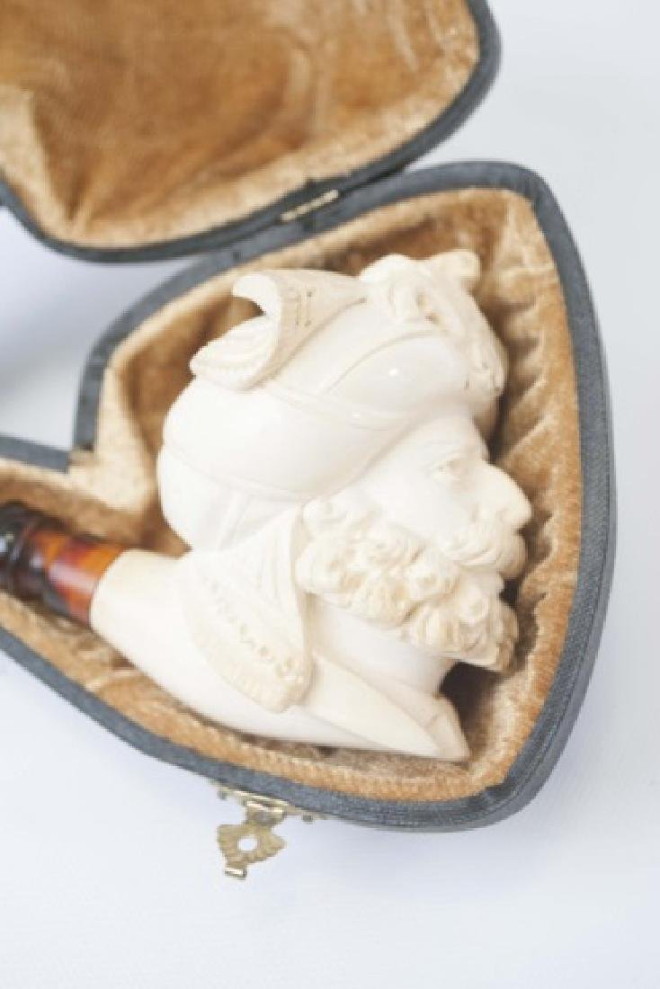 Vintage Meerschaum Pipe in Original Fitted Case - 5