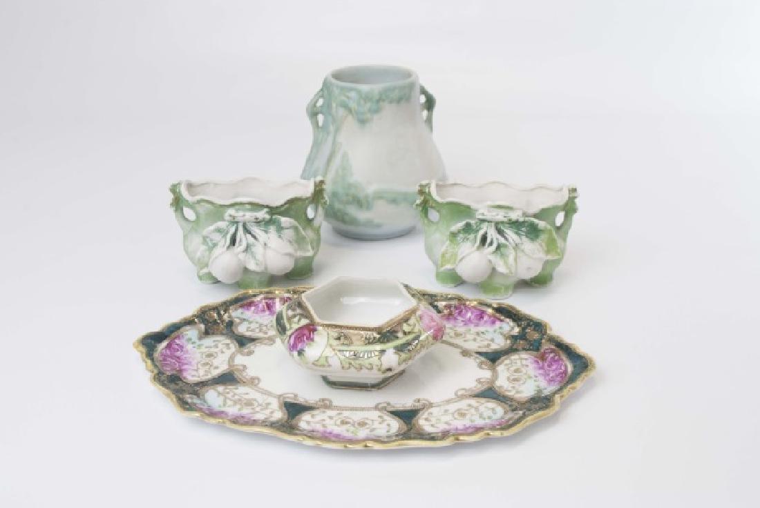 Grp Vintage Weller Ceramic Vase & Various Others