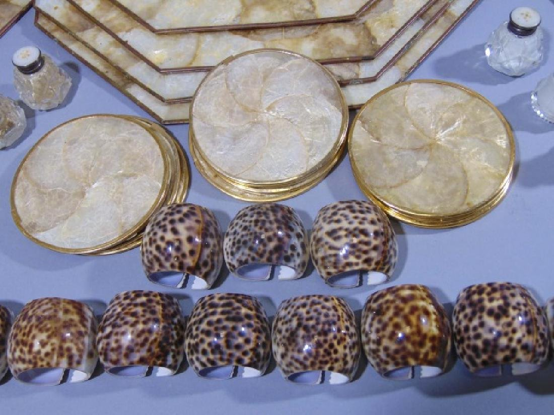 Collection of Seashell Rings, Plates & Place Mats - 4