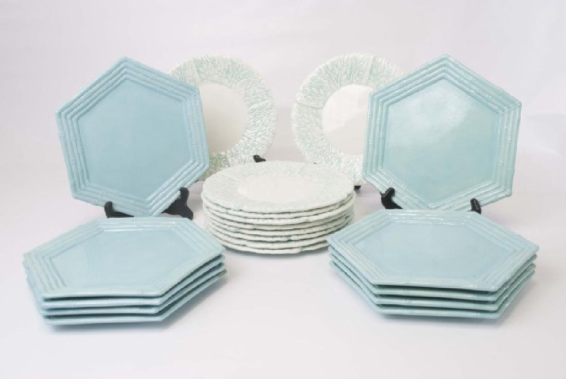 2 Sets of Ceramic Majolica Plates for 10 Places SB