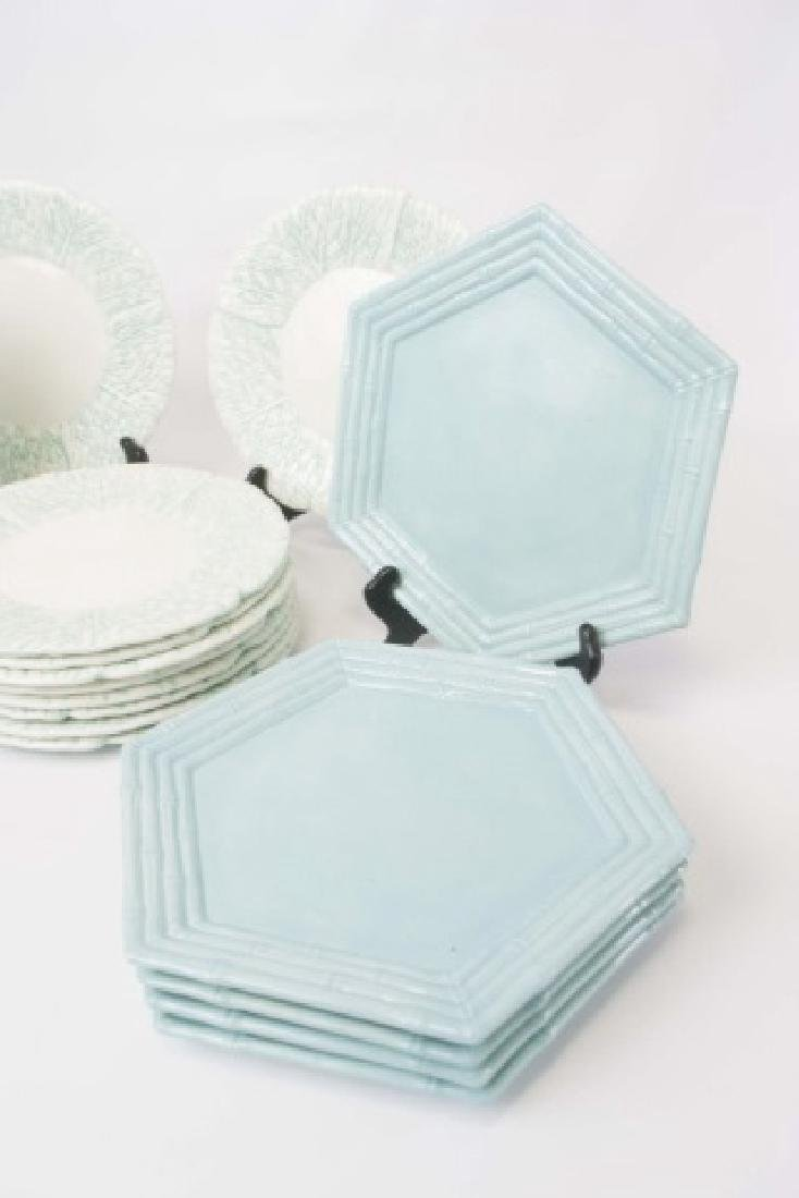 2 Sets of Ceramic Majolica Plates for 10 Places SB - 3