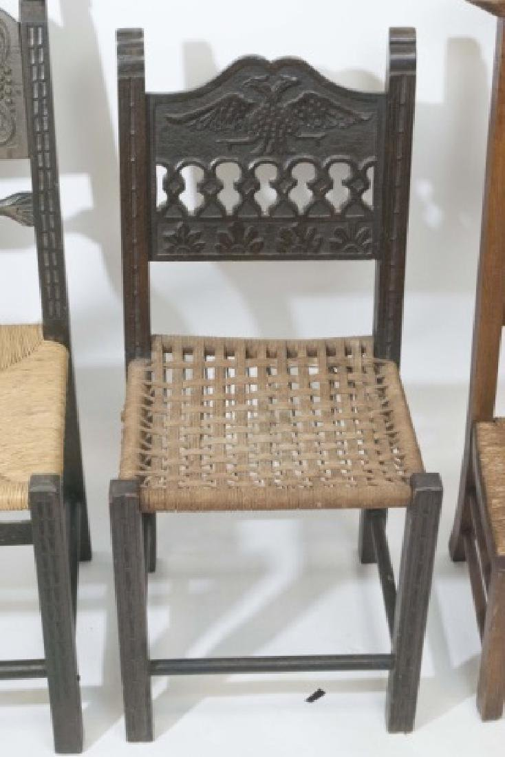2 Antique Hand Carved Wooden Chairs & 1 Prie Dieu - 2