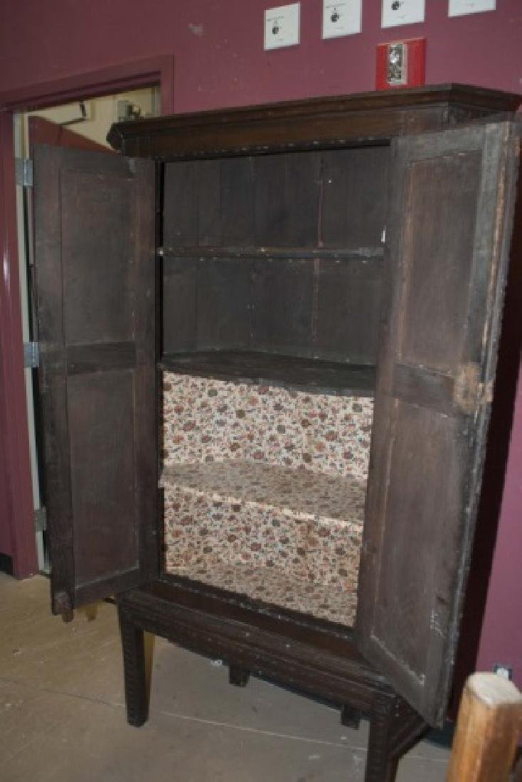 Antique Hand-Carved Country Corner Cabinet - 4