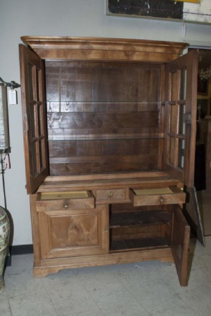 Antique French Country Pine Biblioteque Cabinet - 2