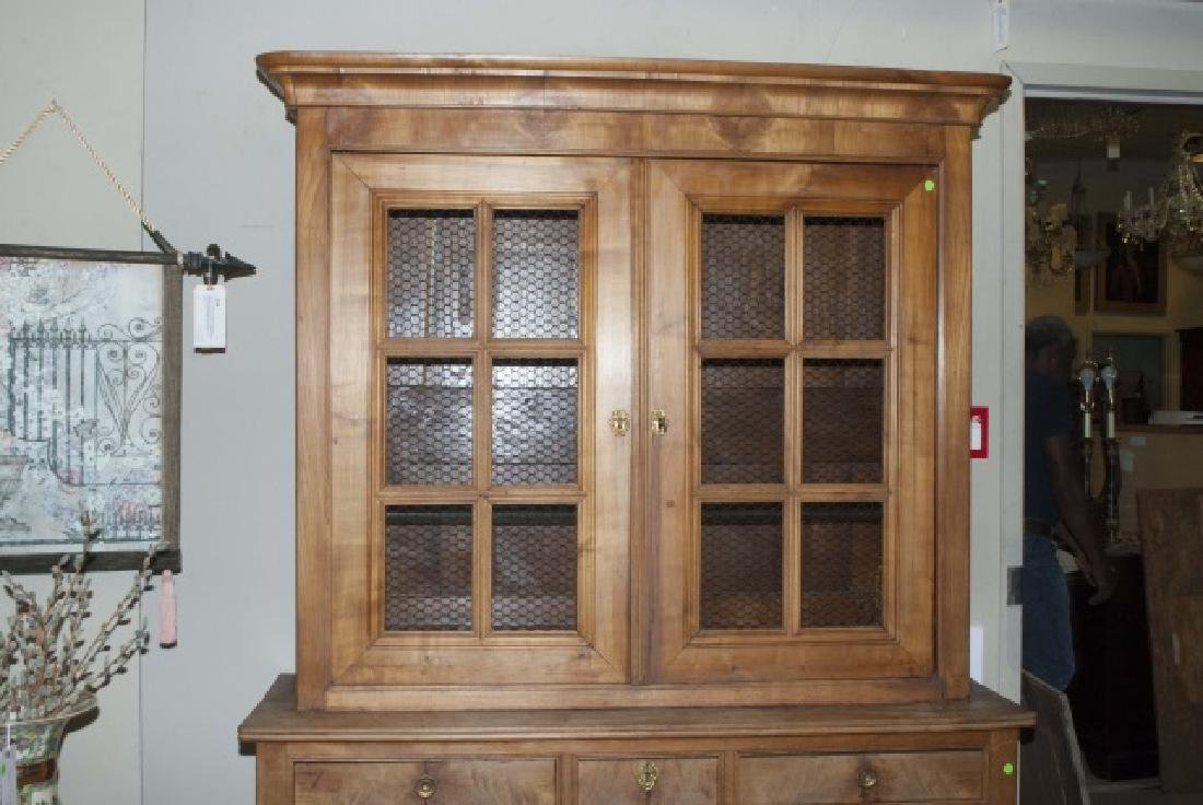 Antique French Country Pine Biblioteque Cabinet - 3