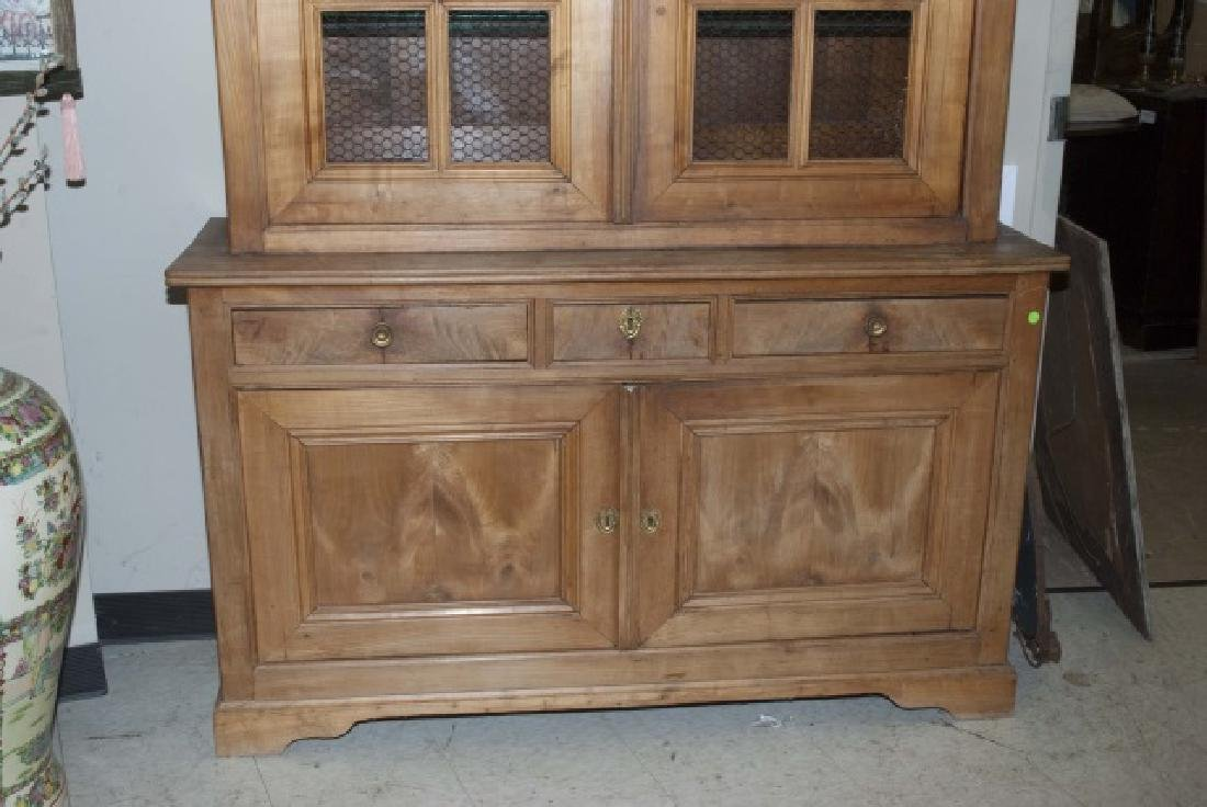 Antique French Country Pine Biblioteque Cabinet - 4
