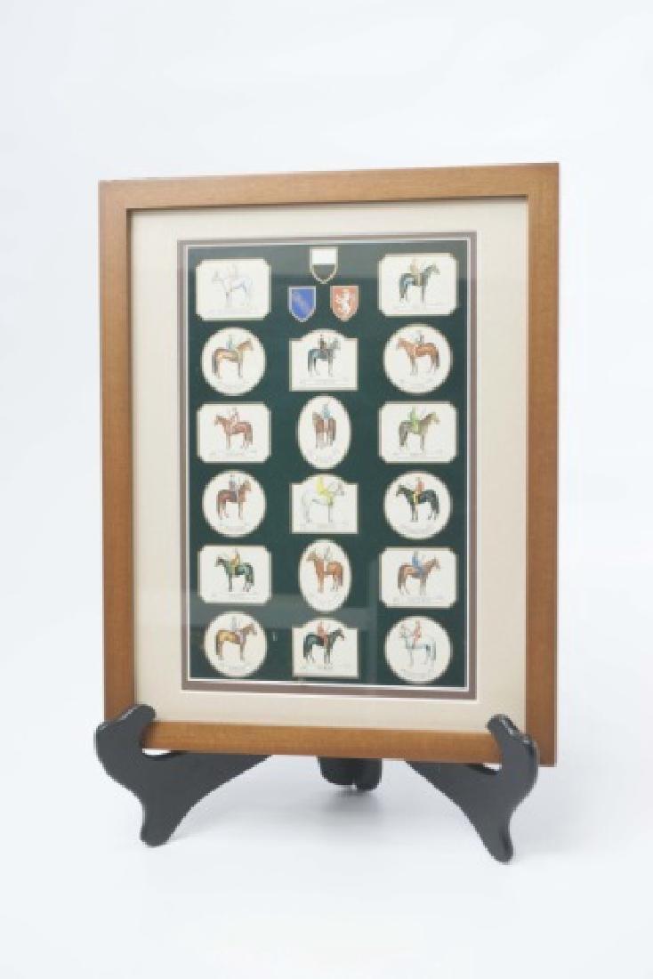 Framed Equestrian Print of Siena Palio Race Horses