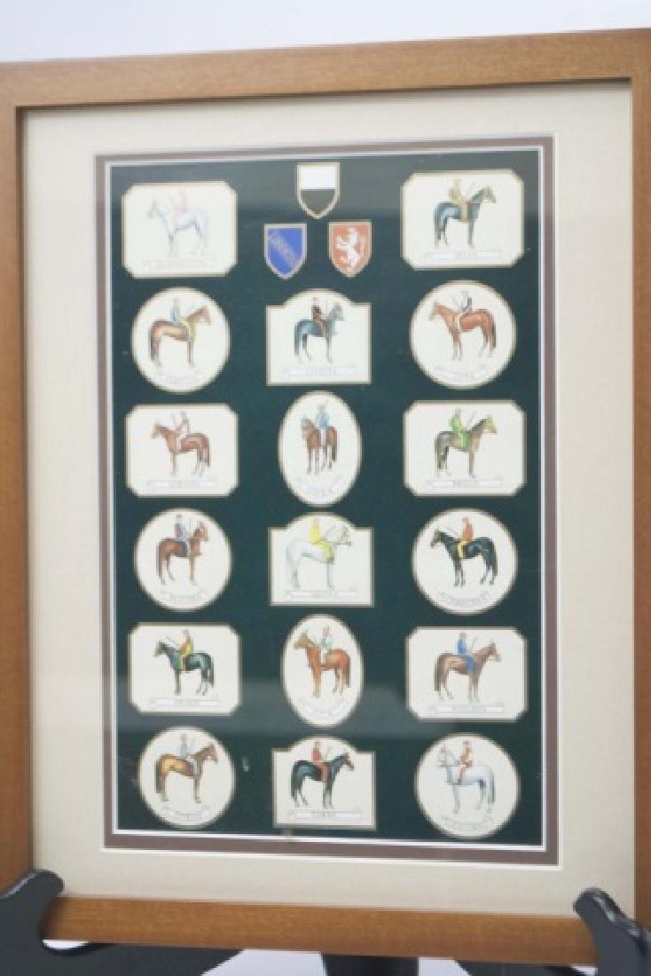 Framed Equestrian Print of Siena Palio Race Horses - 3