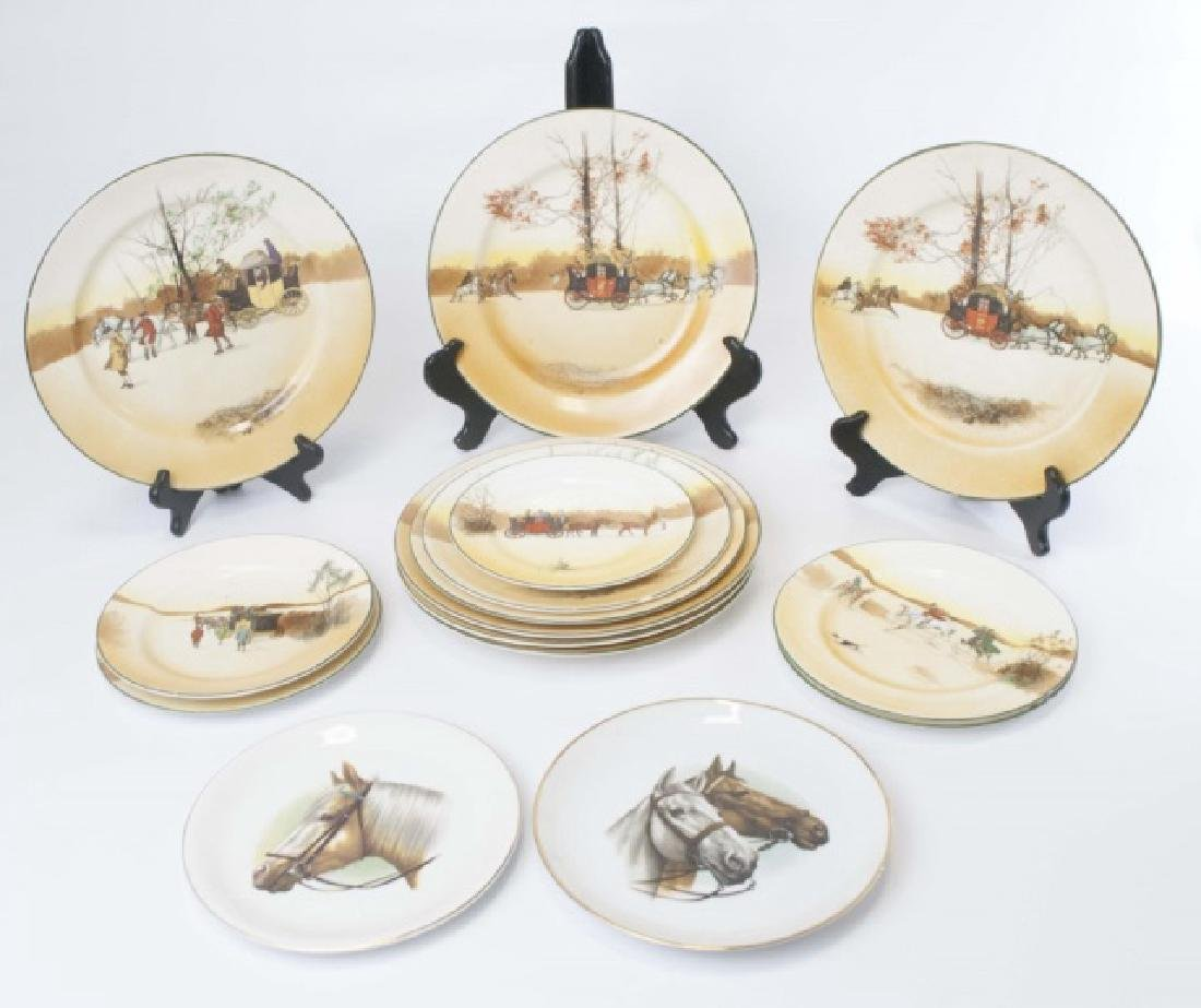 Pieces of Coaching Days Porcelain by Royal Doulton