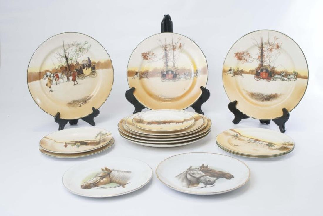 Pieces of Coaching Days Porcelain by Royal Doulton - 2