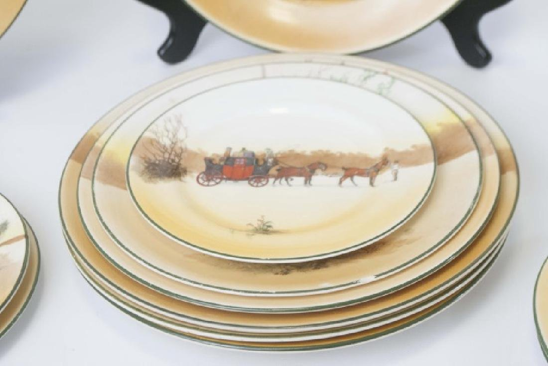 Pieces of Coaching Days Porcelain by Royal Doulton - 5