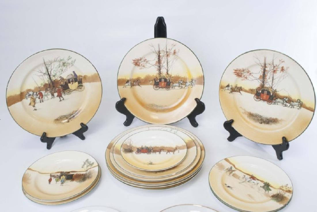 Pieces of Coaching Days Porcelain by Royal Doulton - 8